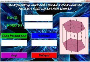 Luas Permukaan dan Volume Prisma Segi6 Beraturan | sayasatya